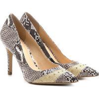 1bf3ca1b38 Scarpin Shoestock Salto Fino Cobra - Feminino-Cinza