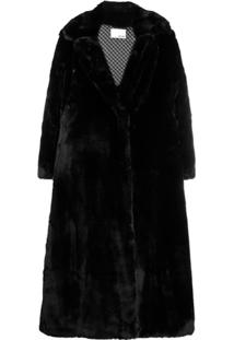 Each X Other Oversized Vegan Mink Coat - Preto