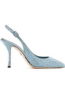 Dolce & Gabbana Scarpin Com Aplicações - Azul