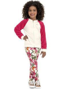 Conjunto Infantil Jaqueta E Calça Bege
