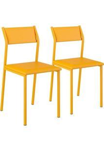 Cadeira Carraro 1709 Aço Color (2 Unidades) Amarelo