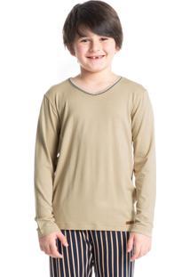 Pijama Infantil Masculino Longo Listrado Guilherme