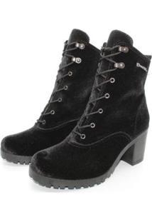 Bota Barth Shoes Wind Veludo - Preto - 38 - Feminino-Preto