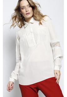 efc481aec8130 Camisa Dri I Em Seda - Bege Clarole Lis Blanc