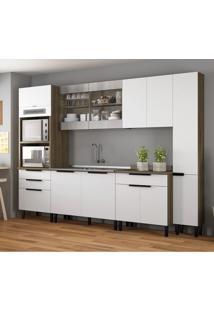 Cozinha Compacta Itamaxi Ii 11 Pt 4 Gv Branca E Castanho