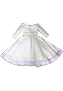 Vestido Com Laço Liminha Doce Branco