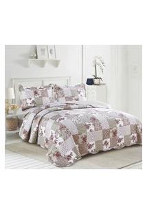 Colcha King Camesa Evolution Patchwork 260X280Cm Madalena