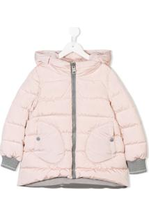Herno Kids Hooded Padded Coat - Rosa