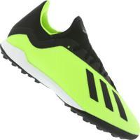 Centauro. Chuteira Society Adidas X Tango 18.3 Tf - Adulto - Verde Claro  Preto a8206468a5090
