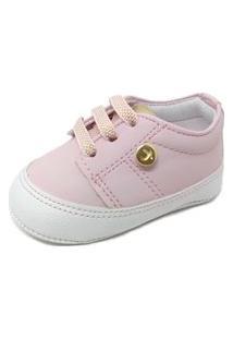 Sapatinho De Bebê Tênis Pititiko Menina Rosa Bebe 10