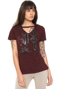 Camiseta Replay Choker Vinho