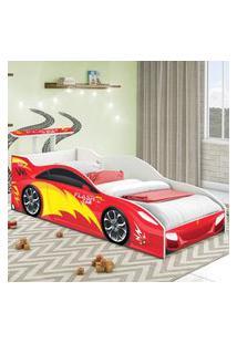 Cama Carro Solteiro Vermelho Casah