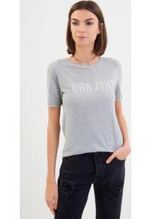 Camiseta John John Silver Malha Prata Feminina (Prata, Pp)