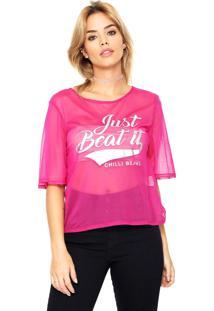 Camiseta Chilli Beans Tule Rosa