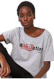 Camiseta Cavalera Revolution Cinza