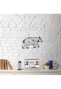 Escultura De Parede A Laser Urso