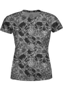 Camiseta Estampada Baby Look Over Fame Branca - Preto - Feminino - Poliã©Ster - Dafiti