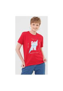 Camiseta Cantão Paz Amor E Sorte Rosa