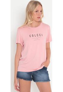 """Camiseta """"Loving Yourself""""- Rosa Claro & Preta- Colccolcci"""