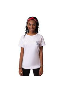 Camiseta Kings Sneakers Cropped Kings Logo Branco Feminina