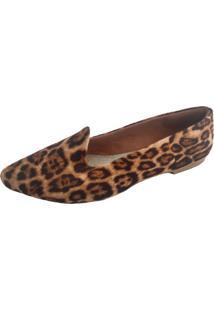 Slipper Sapatoweb Bico Fino Onça