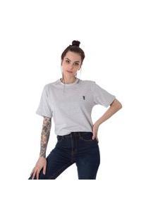 Camiseta Unissex Operarock Listrada Coroa Cinza