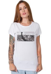Camiseta Nelson Mandela Branco - Branco - Feminino - Algodã£O - Dafiti