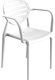 Cadeira Stripe Com Braço Branca