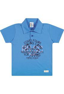 Camiseta Pulla Bulla Meia Malha Azul