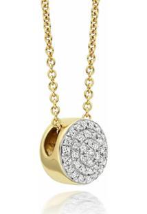 Monica Vinader Colar Com Diamante 'Fiji Button' - Dourado