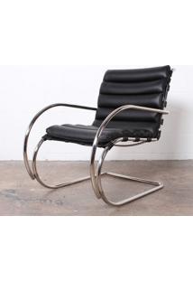 Cadeira Mr Cromada (Com Braços) Linho Impermeabilizado Marrom - Wk-Ast-05