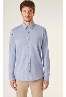 Camisa Ml Pf Oxford Color Reserva Azul