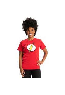 Camiseta Flash Logo Clássico Vermelho