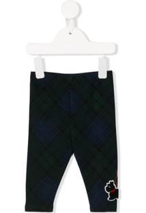 Ralph Lauren Kids Terrier Patch Tartan Trousers - Azul