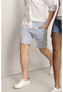 Bermuda Masculina Chino Slim Listrada