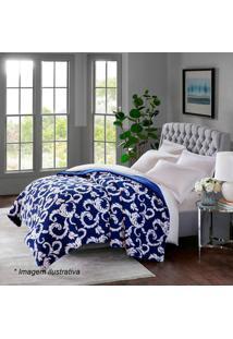 Edredom Islândia Home Design King Size- Azul Escuro & Brcorttex