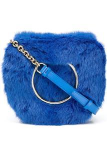 Salvatore Ferragamo Bolsa 'Vela' Tiracolo De Couro - Azul