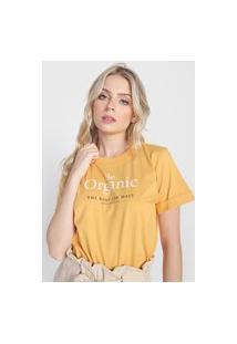 Camiseta Colcci Be Organic Amarela