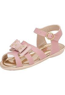 Sandália Infantil Plis Calçados Afago Feminina - Feminino-Rosa