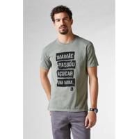 11d4870dbf Camiseta Reserva Pf Estampada Açucar Em Mim Masculina - Masculino-Verde  Militar