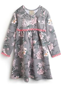 Vestido Milon Floral Cinza