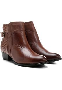 Bota Shoestock Curta Flat Tressê Traseiro - Feminino