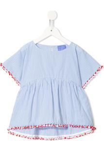 Stella Jean Kids Blusa Com Listras E Acabamento De Tassel - Azul