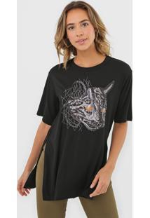 Camiseta Forum Paetê Preta