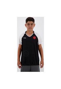 Camisa Vasco Shield Infantil Preta
