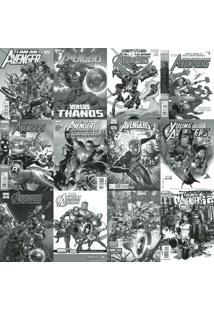 Papel De Parede Adesivo Revistas Marvel Preto E Branco (0,58M X 2,50M)