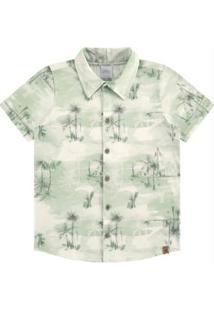 Camisa Meia Malha Verde