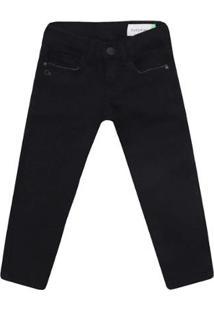 Calça Jeans Infantil Ogochi Skinny Masculino - Masculino-Preto