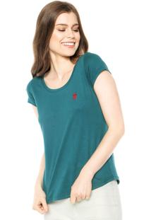 Camiseta Polo Wear Bordado Verde-Escuro