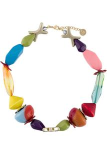 Missoni Beaded Colour-Block Necklace - Azul